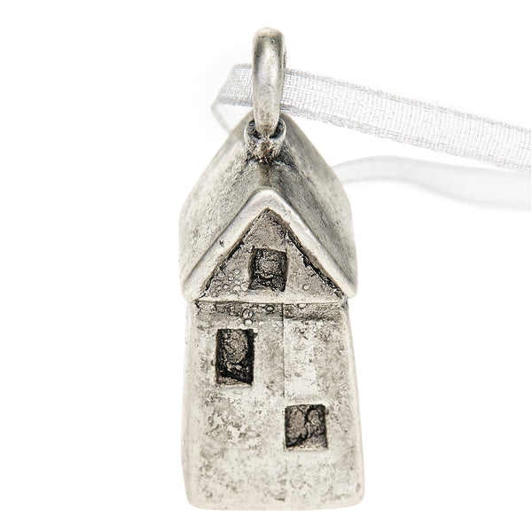 Wishing House Ornament - Antique Silver