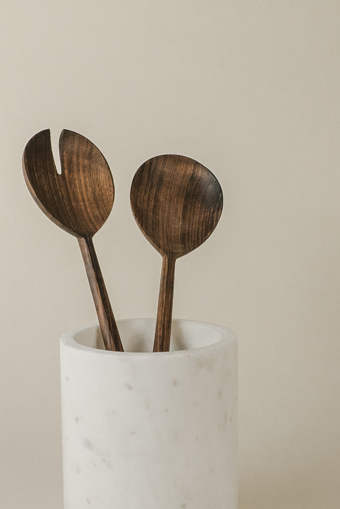 Serving Set |  Dark Walnut