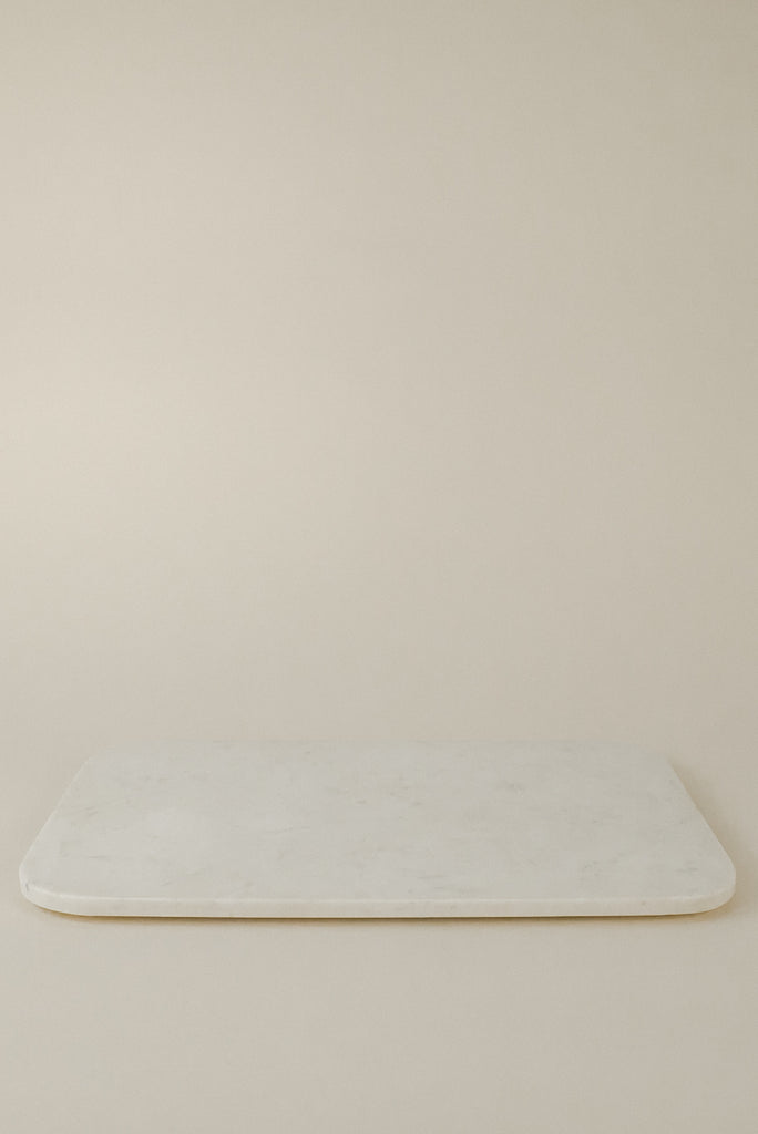 Large Serving Board | White Marble