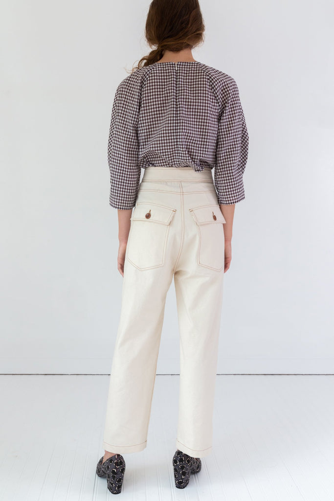 Alexis Top | Brown Gingham