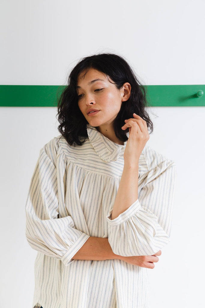 Claire Top | Ticker Stripe