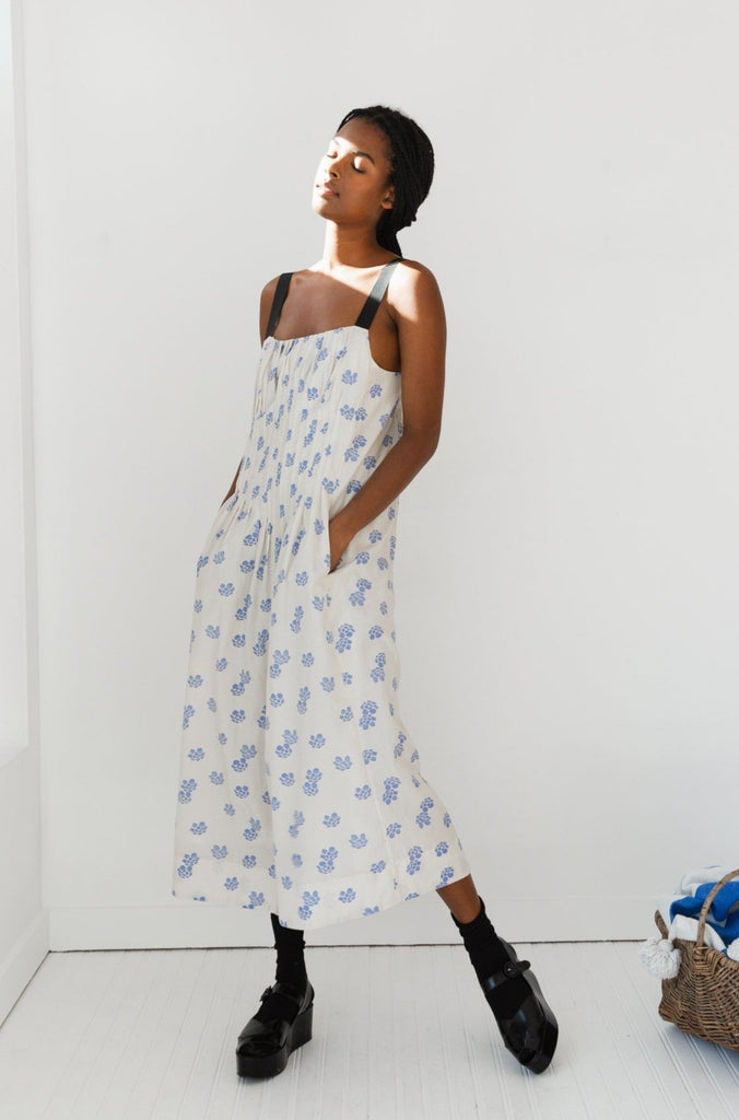 Virginia Dress | Shibori Silk Cotton