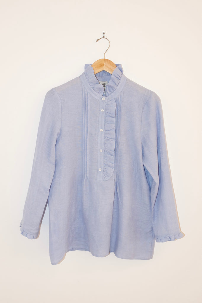 Vanda Ruffle Top | Washed Sky