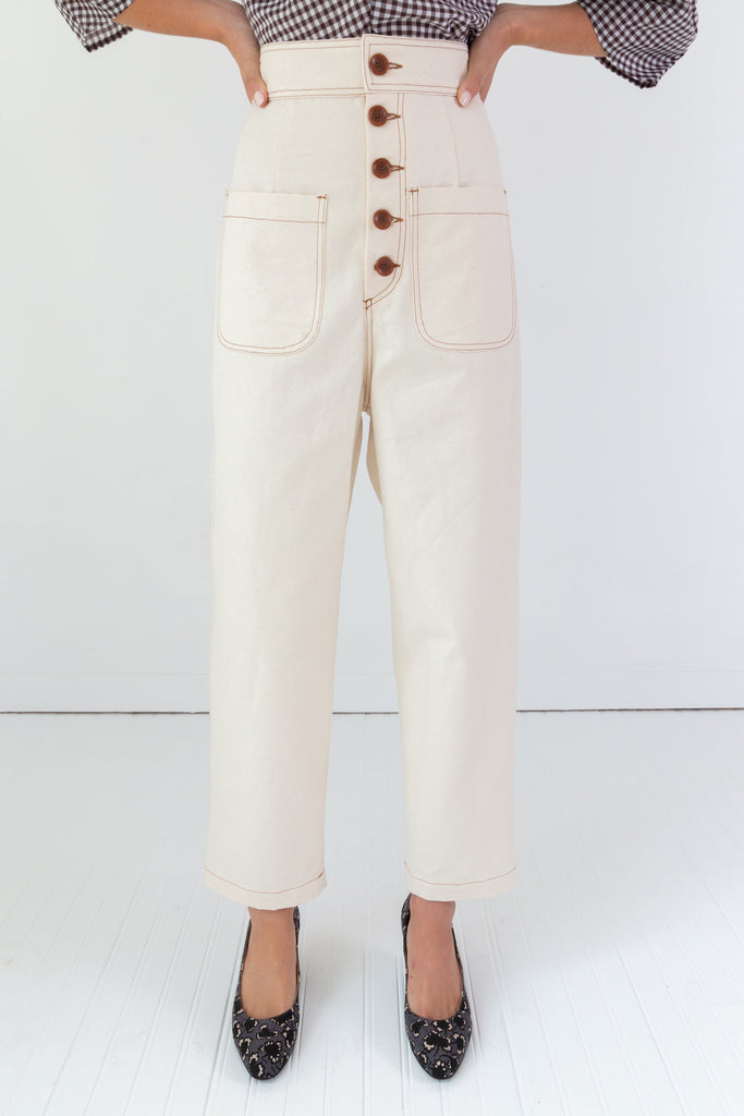 Emily Pant | Cream Canvas