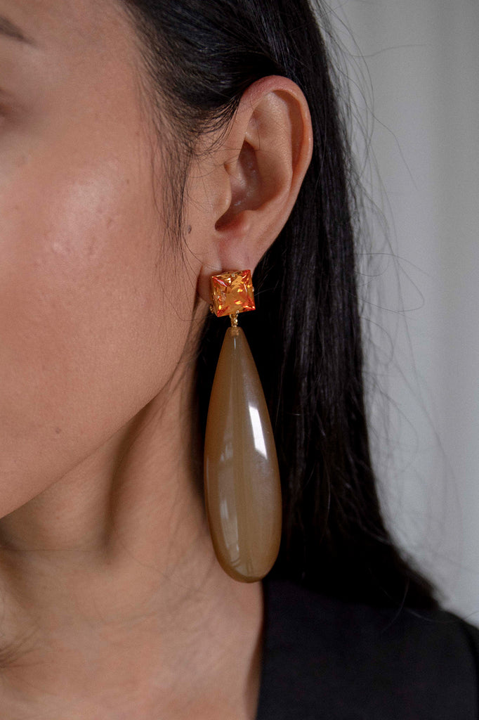 Camber Earrings | Amber/Brown