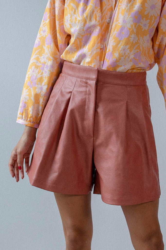 Annika Pleated Short | Rose