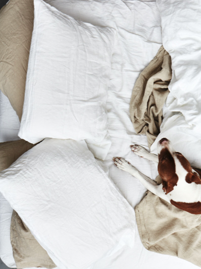 Linen Bedding | White