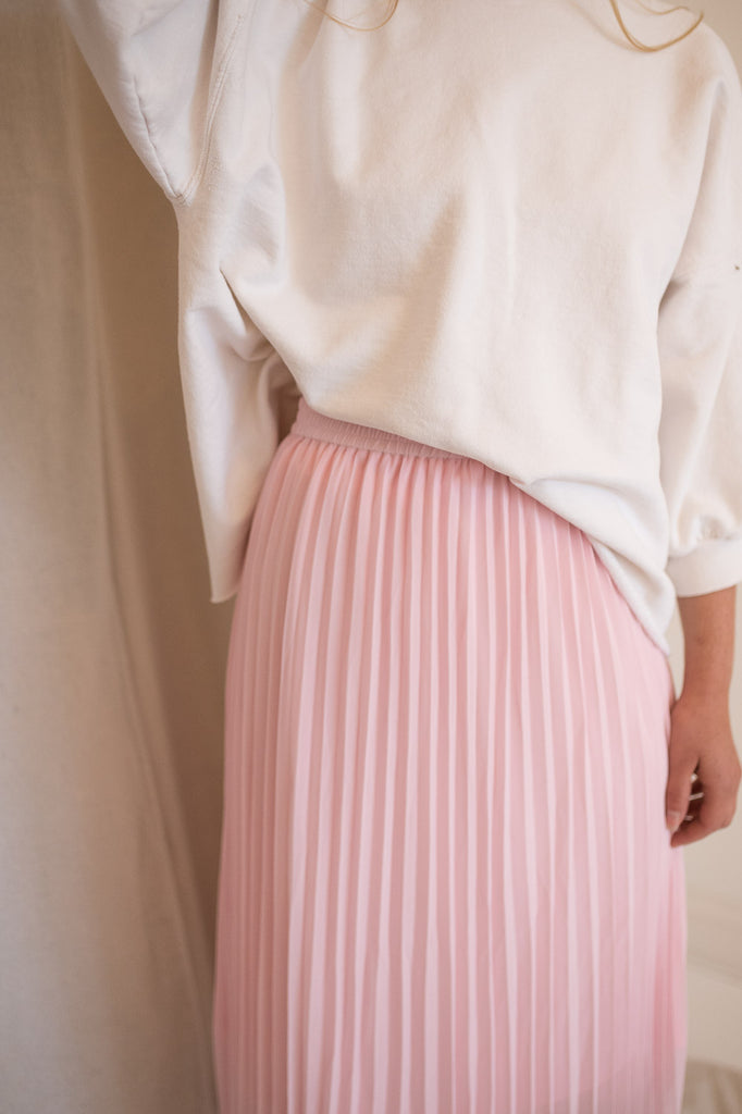 Moe Pleated Skirt | Pink