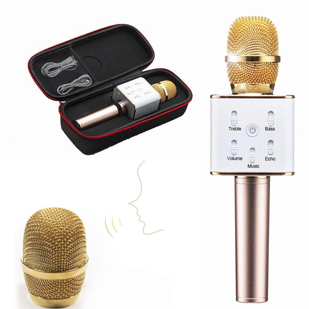 Wireless Karaoke Microphone with Build-in Bluetooth Speaker for Smart Phone