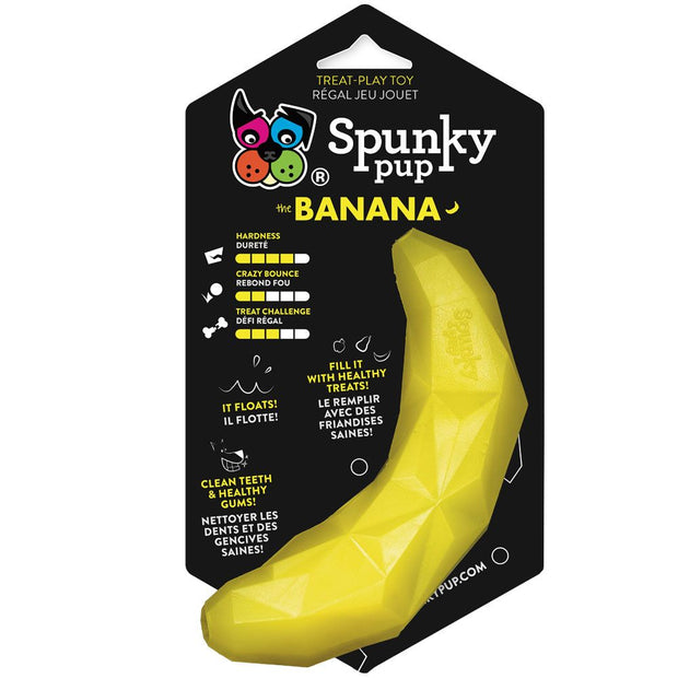 Spunky Pup Treat Holding Play Toy (Banana)