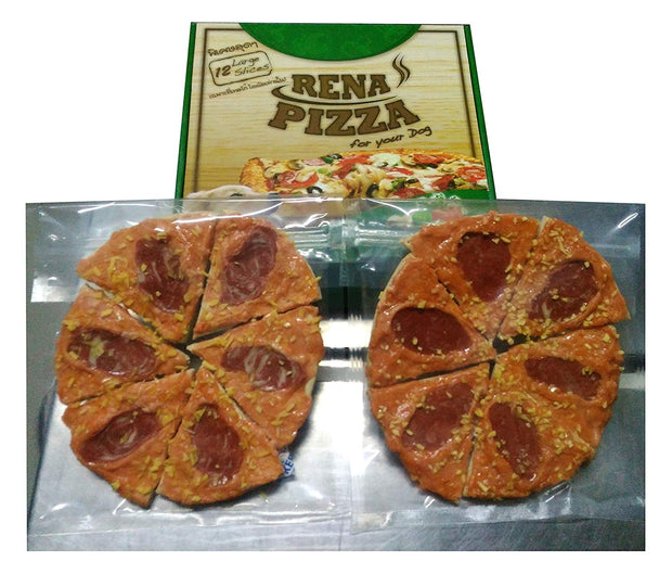 Rena Dog Pizza- 12 Large Slices