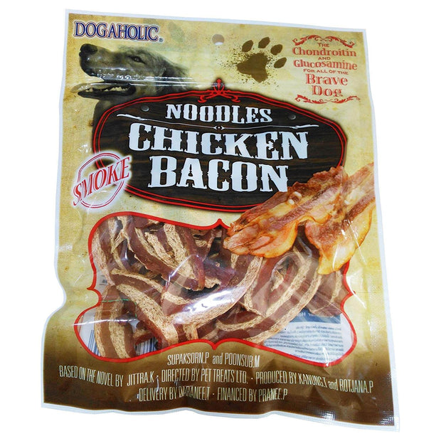 Dogaholic Noodles Chicken Bacon Strips- Smoke (130 gm)