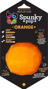 Spunky Pup Treat Holding Play Toy (Orange)