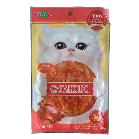 Cataholic Neko Soft Chicken Jerky Sliced Cat Treats (30 Gms)