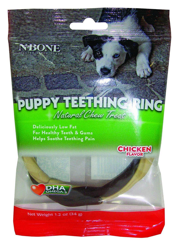 N-Bone Puppy Teething Ring- Chicken Flavour (34 gms)