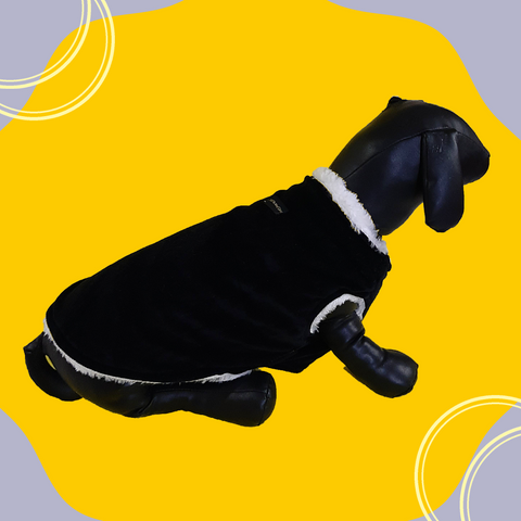 Regular Black Winter Wear For Dogs