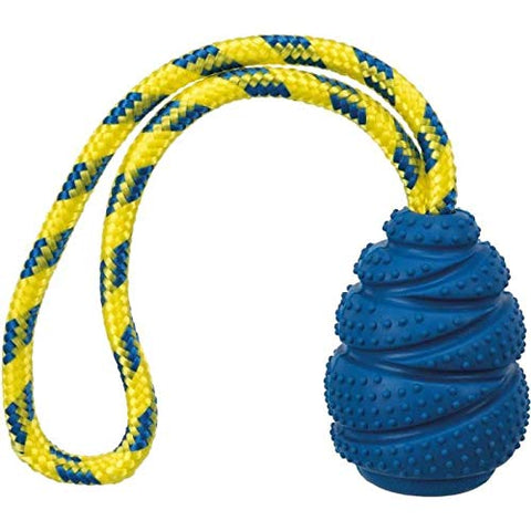 Trixie Sporting Jumper On A Rope Natural Rubber Toy