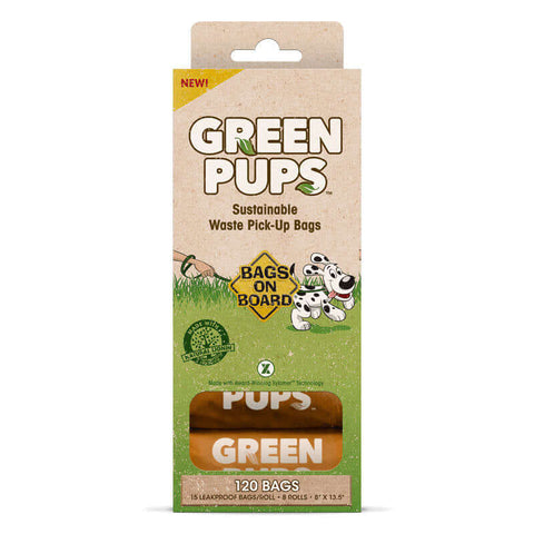 Bramton Bags on Board Green Pups Biodegradable Waste Pick-Up Bags (120 Pcs)
