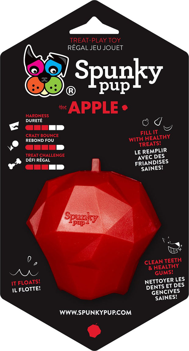 Spunky Pup Treat Holding Play Toy (Apple)