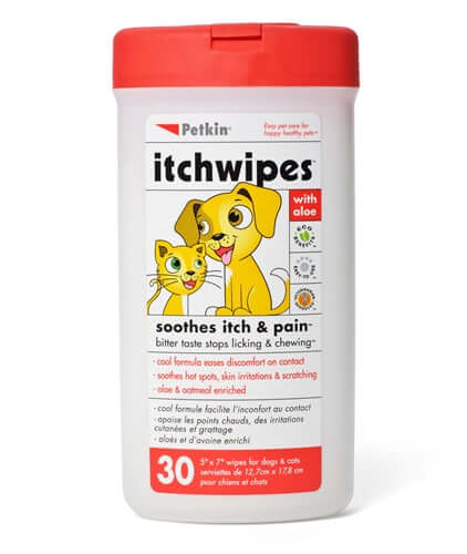 PetKin Itch Wipes (30 Wipes)