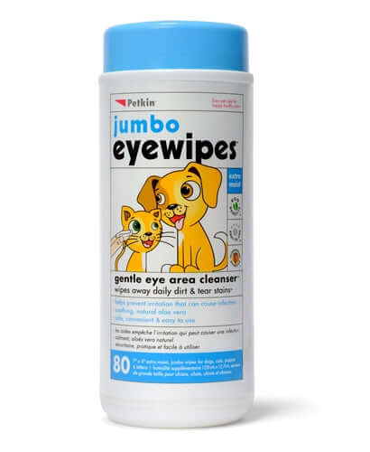 PetKin Jumbo Eye Wipes (80 Wipes)