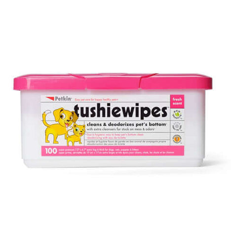 PetKin Tushie Wipes (100 Wipes)