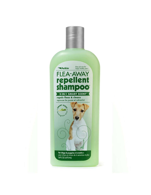 Petkin Flea Away Repellent Shampoo (475 ml)