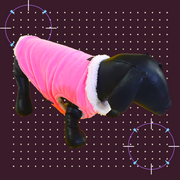 Regular Pink Winter Wear For Dogs.