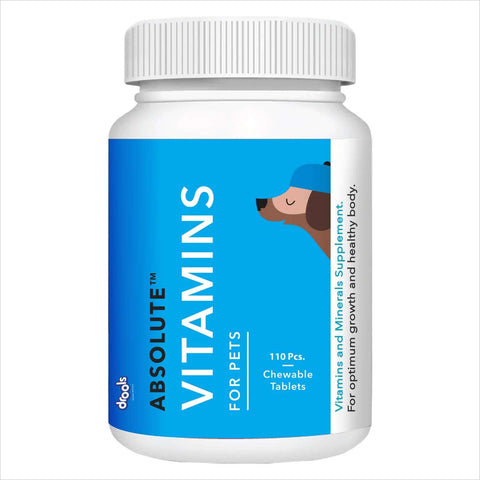 Drools Absolute Vitamin Tablet- Dog Supplement, 110 Pcs