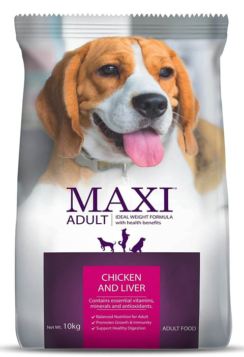Maxi Chicken and Liver Adult Dog Food