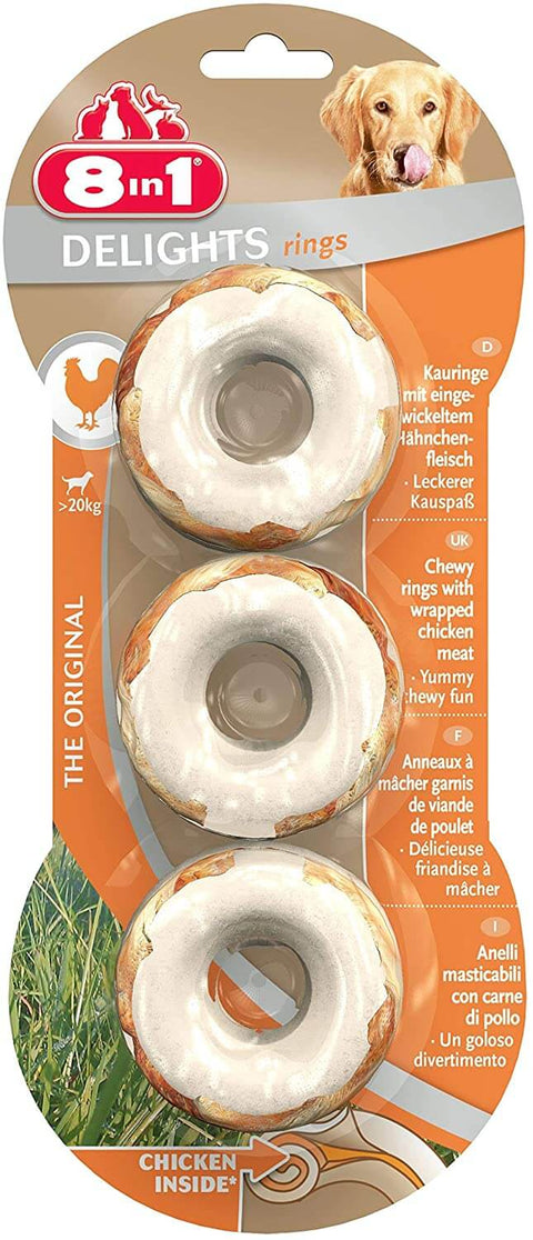 8in1 Delights Rings, Pack of 3 Treats For Dogs