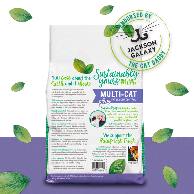 Sustainably Yours Natural Sustainable Multi Plus-Cat Litter, 13 lbs