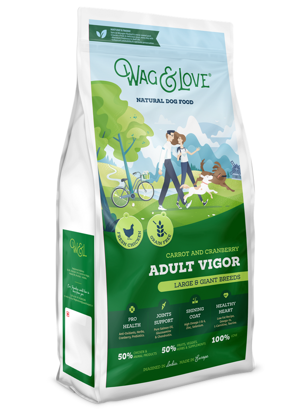 Wag & Love Natural Dog Food – Adult Vigor (Large & Giant Breeds)