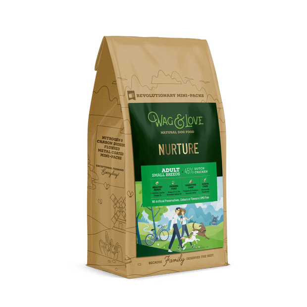 Wag & Love Natural Dog Food- Nurture Adult (Small & Medium Breeds)