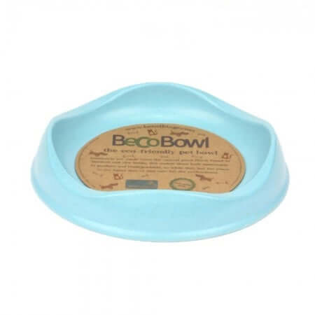 Beco Pets Recycled Bamboo Cat Bowl – Blue