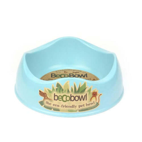 Beco Pets Recycled Bamboo Dog Bowl – Blue