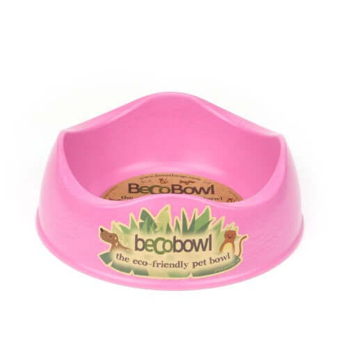 Beco Pets Recycled Bamboo Dog Bowl – Pink