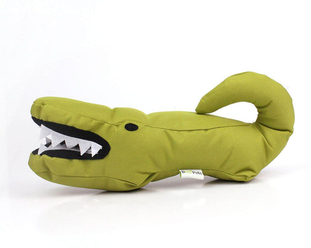 Beco Pets Recycled Squeeker Plush / Soft Toy For Dogs – Aretha The Alligator