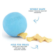 Beco Pets Natural Rubber Treat Ball For Dogs – Blue