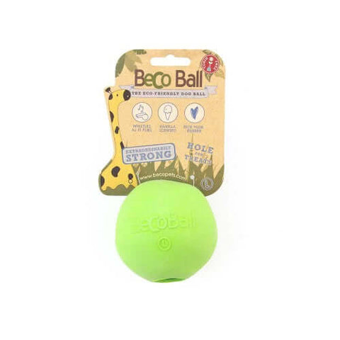 Beco Pets Natural Rubber Treat Ball For Dogs – Green