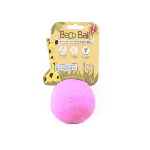 Beco Pets Natural Rubber Treat Ball For Dogs – Pink