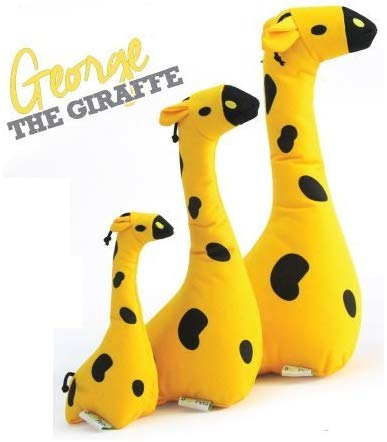 Beco Pets Recycled Squeeker Plush / Soft Toy For Dogs – George The Giraffe