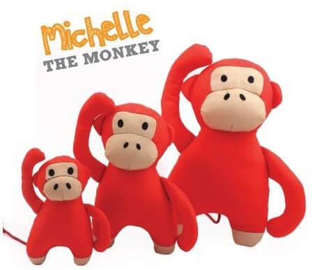 Beco Pets Recycled Squeeker Plush / Soft Toy For Dogs – Michelle The Monkey