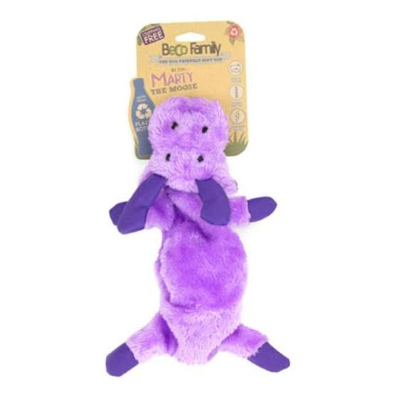 Beco Pets Recycled Stuffing Free Toy For Dogs – Moose