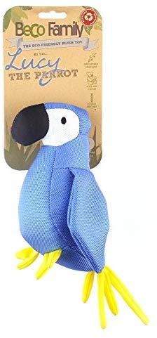 Beco Pets Recycled Squeeker Plush / Soft Toy For Dogs – Lucy The Parrot