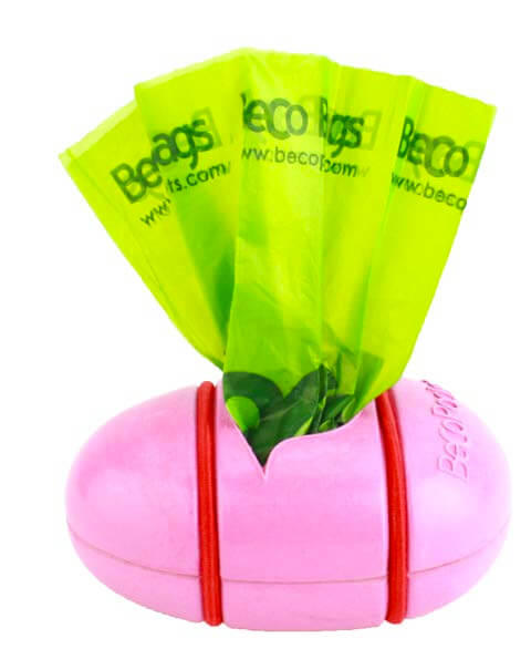 Beco Pets Recycled Bamboo Pocket Poop Bag Dispenser – Pink