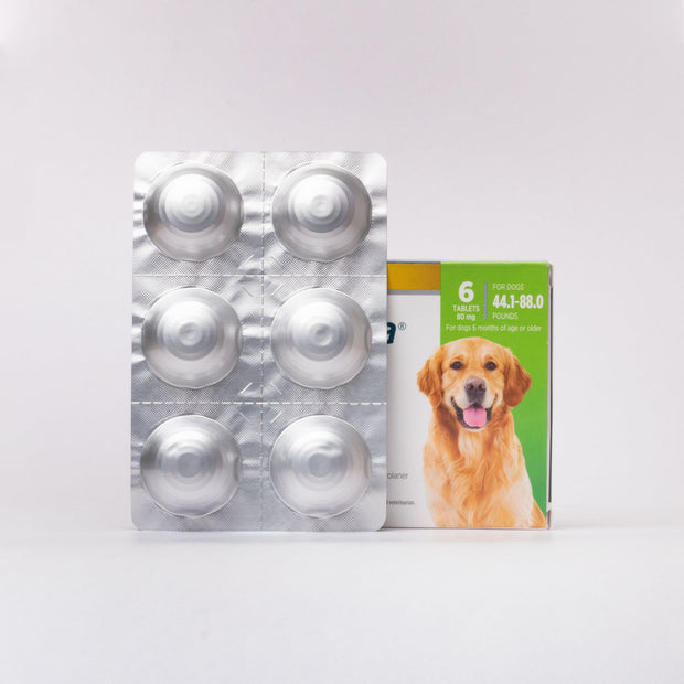 Simparica Chewable Tablet for Dogs 44.1-88.0lbs ( 80mg )