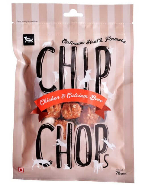 Chip Chops Dog Treats- Chicken and Calcium Bone (70 gms)