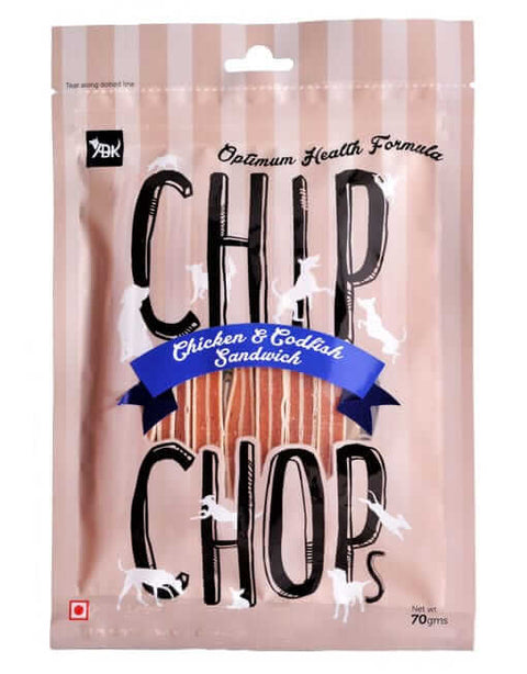 Chip Chops Dog Treats- Biscuit Twined with Chicken (70 gms)