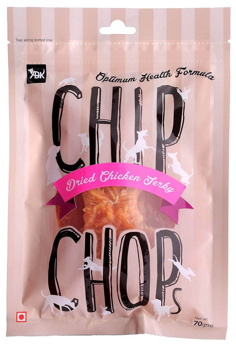Chip Chops Dog Treats- Sun Dried Chicken Jerky (70 gms)
